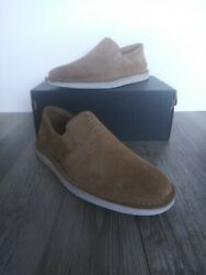 Clarks Collection Forge Free Suede Slip On Shoes Dark Sand Men#x27;s Size 8 $45.00
