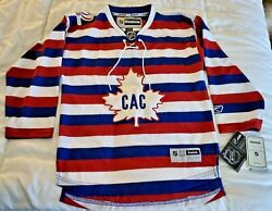 nwt Authentic Montreal Canadians Reebok 1909-2009 100yr Barber Pole Youth S/m