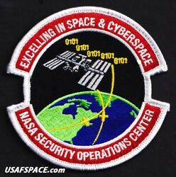 Nasa Security Operations Center--space And Cyberspace - Original Usaf 4 Vel Patch