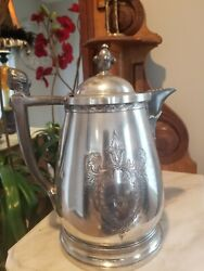 Gorgeous Rogers Smith/jas Stimpson Patented Silverplate Insulated Water Pitcher