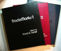The Book Of American Trade Marks 1,2,3 - 3vol. Lot - Carter - 1978 - Great