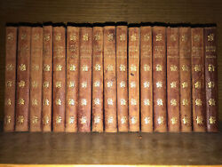 Leather Set Works Of Charles Dickens Complete 17 Volumes Good Condition Only