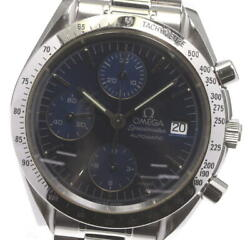 Omega Speedmaster Date 3511.80 Chronograph Blue Dial Auto Menand039s Watch_598121