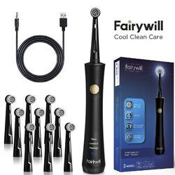 Fairywill Rechargeable Electric Toothbrush 2 Min Timer Rotary Brush Heads Clean