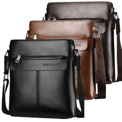 Leather Business Shoulder Bag for Men Office Work Messenger Cross Body Bag TOTE $23.90