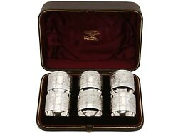 Sterling Silver Napkin Rings Set Of Six - Antique Victorian 1889
