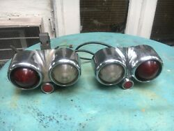 1957 Cadillac Left Driver Gas Door And Right Taillights Decent Chrome Rare
