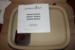 Pampered Chef Small Stoneware Bar Pan 100256 New Free Shipping Made In Usa