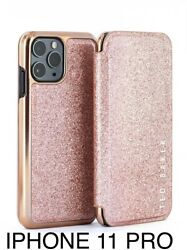 Ted Baker Boxed Rose Gold Glitter Mirror Case-iphone 11 Pro-check Size