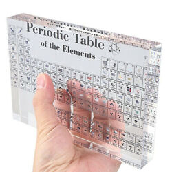 Acrylic Periodic Table Display With Elements School Kids Teaching Chemical