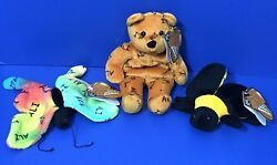 Muhammad Ali Salvinos Bammers Bear Butterfly Bee 1999 Boxing Bean Bag Plush Tags