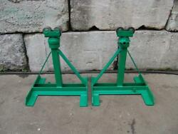 Greenlee 656 Ratchet Type Reel Stands 3750 Lbs For Tugger Puller Nice Shape 2