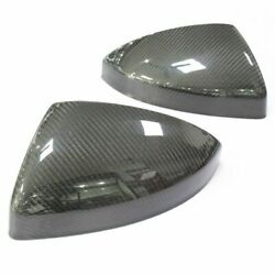 Fit For Audi R8 Tt Tts Ttrs Replacement Mirror Cover Caps Real Carbon New