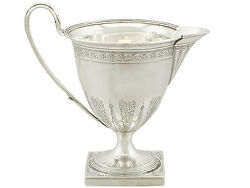 Antique Sterling Silver Cream Jug By Henry Chawner - George Iii 1794