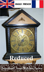 Antique Thos. Read English 1750's Birdcage Wall Clock Reduced