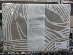 Crate And Barrel King Duvet Cover - Anika Taupe 100 Cotton