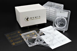 Numis 10 Pack 38mm Premium Acrylic Clear Coin Case Slab Holder Liberty Morgan