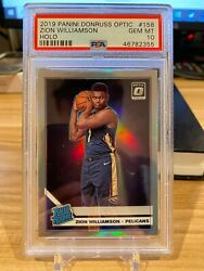2019-20 Donruss Optic Rated Rookie Rc Holo Silver Zion Williamson Psa 10 Low Pop