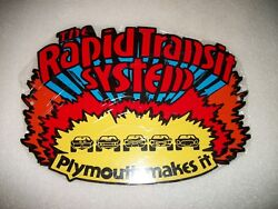 Reproduction The Rapid Transit System Plymouth 12 Metal Car Gas Oil Sign