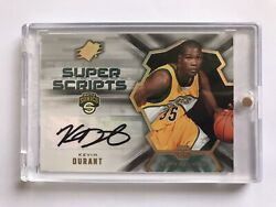 Kevin Durant Super Scrips Auto Rookie Rc Signed Upper Deck