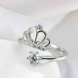 Open Crown Queen Engagement Wedding Ring For Her 14k White Gold 2.10 Ct Diamond