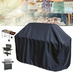 64 3/16x24x48in Black Bbq Grill Barbecue Waterproof Covers Yard Outdoor Cooking
