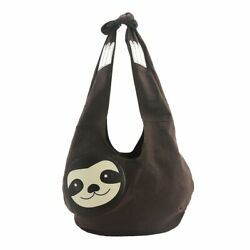 Women#x27;s Purse Sublimated Sloth Face Hobo Bag Shoulder Crossbody Strap $29.97