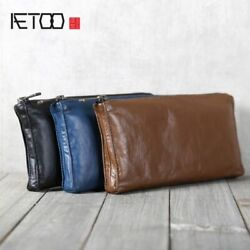 Horizontal Wallet Coin Purse Bag Money Id Card Pouch Holder Organizer Leather