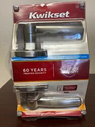 Kwikset Signature Series Bed And Bath Lever Satin Nickel New Original Package