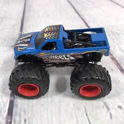 Hot Wheels Racing Team Monster Jam Truck Collectible Diecast Blue Red Rims 164
