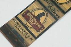 Old Topper Ale 1920and039s Rochester Brewing Co Beer Advertisement Matchbook Cover