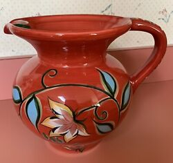 Gail Pittman Southern Living At Home Red Bountiful Water / Decorative Pitcher