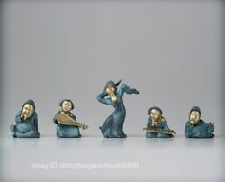 Brass Copper Chinese Ancient Tang Aroma Woman Girl Belle Man Dancing Girl Statue