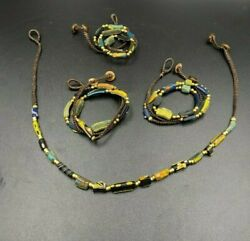 Lot Of Vintage Jewelry Antique Ancient Glass Gabri Beads Necklaces