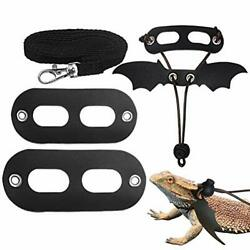 5 Pack Bearded Dragon Harness and Leash Adjustable SML Soft Leather Lizard