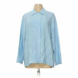 Chistopher Calvin Women#x27;s Cardigan size L light blue rayon nylon $8.03