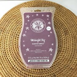 New RARE 17 OZ DISCONTINUED MIDNIGHT FIG Scentsy BRICK Large