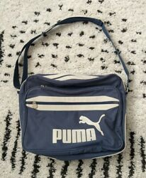 PUMA blue crossbody canvas messenger bag $40.00