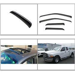 5pcs Vent Shade Window+sun/moon Roof Visors Fit 09-18 Dodge Ram 1500 Quad Cab
