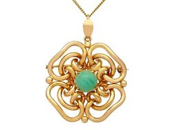 2.83ct Chalcedony And 18ct Yellow Gold Pendant Vintage Circa 1950