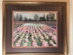 Listed Artist George Hitchcock Pastel On Board Signed