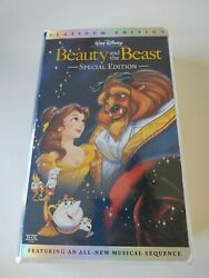 Disney Platinum Edition Beauty And The Beast Vhs Plus The Enchanted Christmas