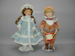 Matthew And Alicia Marching Band Dolls Cindy Mcclure 1989 Musical Porcelain