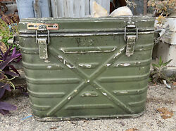 Metal Insulated Food Container Cooler Wyott Corp 1974 Us Army Military Inf 3/19