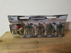 New Elite Force Army Rangers 4 Action Figure 5 Pack + Exclusive K9 Dog 118 Bbi