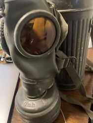 Wwii German Gas Mask And Canister