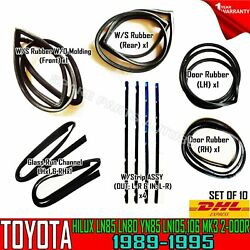 For Toyota Hilux 4-runner Ln85 2-door Weatherstrip Rubber Complete Set Of 10