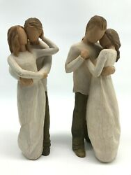 Willow Tree Promise Couple 2003 And Together 2011 Susan Lordi Demdaco Figures