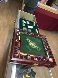 Franklin Mint Monopoly Board Game, 1991 Collector's Edition-cherry Wood