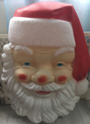 Empire Blow Mold Giant Lighted Santa Face Christmas Outdoor 36x24 Vintage